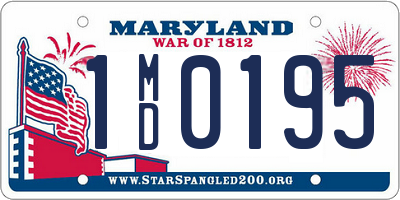 MD license plate 1MD0195
