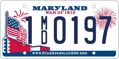 MD license plate 1MD0197