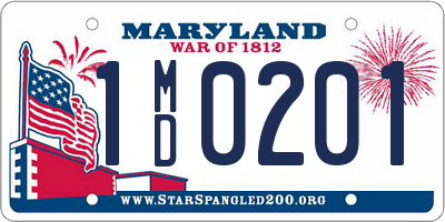 MD license plate 1MD0201