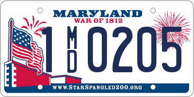 MD license plate 1MD0205