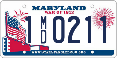 MD license plate 1MD0211