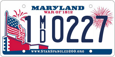 MD license plate 1MD0227