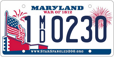 MD license plate 1MD0230