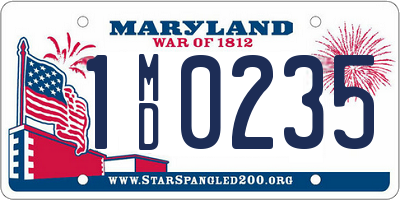 MD license plate 1MD0235