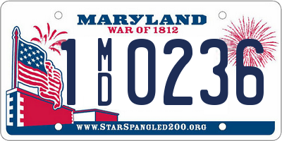 MD license plate 1MD0236