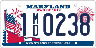 MD license plate 1MD0238