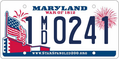 MD license plate 1MD0241