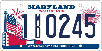 MD license plate 1MD0245
