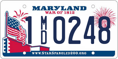 MD license plate 1MD0248
