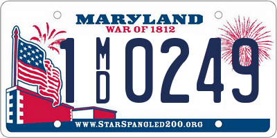 MD license plate 1MD0249