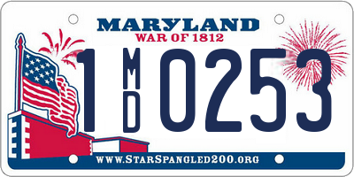 MD license plate 1MD0253