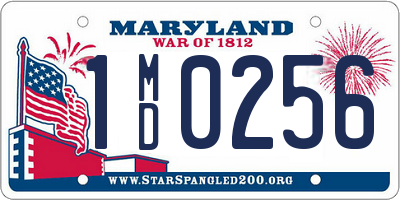 MD license plate 1MD0256