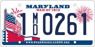 MD license plate 1MD0261