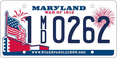 MD license plate 1MD0262