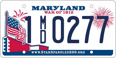 MD license plate 1MD0277