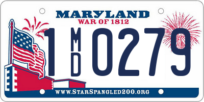 MD license plate 1MD0279