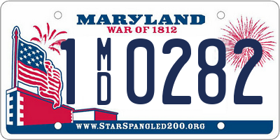 MD license plate 1MD0282
