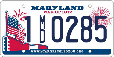 MD license plate 1MD0285