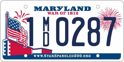 MD license plate 1MD0287