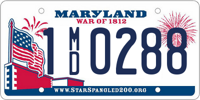 MD license plate 1MD0288