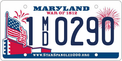 MD license plate 1MD0290