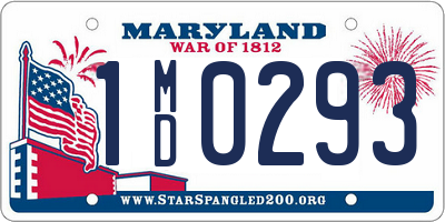 MD license plate 1MD0293