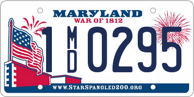 MD license plate 1MD0295