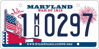 MD license plate 1MD0297