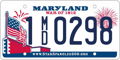MD license plate 1MD0298