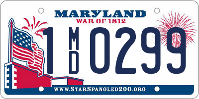MD license plate 1MD0299