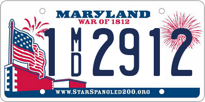 MD license plate 1MD2912