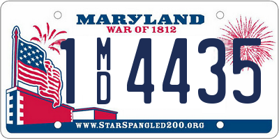 MD license plate 1MD4435