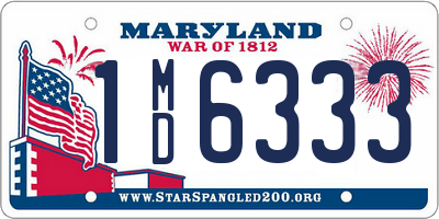 MD license plate 1MD6333