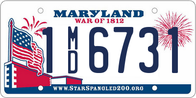 MD license plate 1MD6731