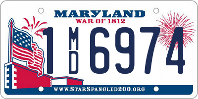 MD license plate 1MD6974