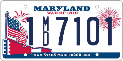 MD license plate 1MD7101