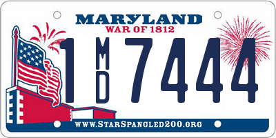 MD license plate 1MD7444