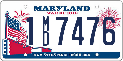 MD license plate 1MD7476