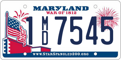 MD license plate 1MD7545