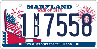 MD license plate 1MD7558