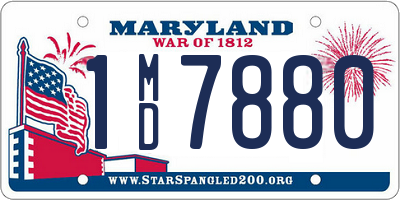 MD license plate 1MD7880