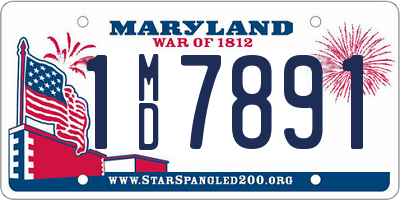 MD license plate 1MD7891