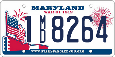 MD license plate 1MD8264