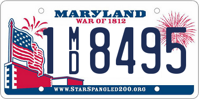 MD license plate 1MD8495