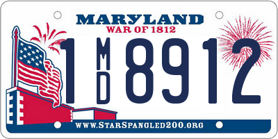 MD license plate 1MD8912