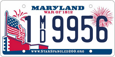 MD license plate 1MD9956