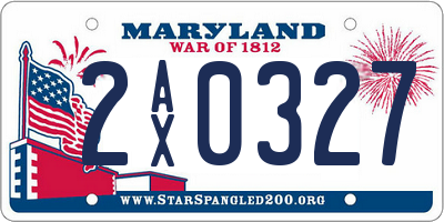 MD license plate 2AX0327