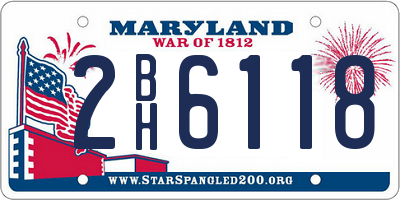 MD license plate 2BH6118