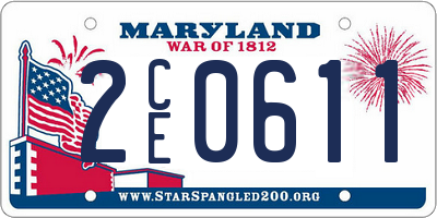 MD license plate 2CE0611