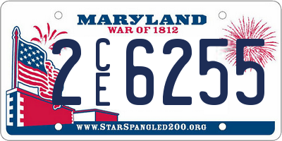 MD license plate 2CE6255